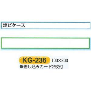 安全掲示板部品 安全掲示板用パーツ 塩ビケース(カード差込み)1段 100*800 KG-236|anzen-signshop