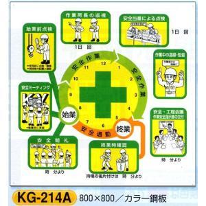 安全掲示板部品 安全掲示板用パーツ 安全施工サイクル KG-214A|anzen-signshop