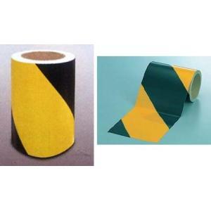 反射テープ ダイヤテープ 粘着性 黄色黒ゼブラ 150mm幅|anzen-signshop