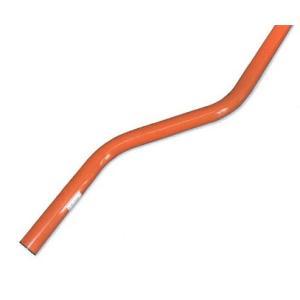 支柱 曲柱 カーブミラー用ポール φ76.3mm L=3600mm 注意板付き ナック・ケイ・エス|anzen-signshop