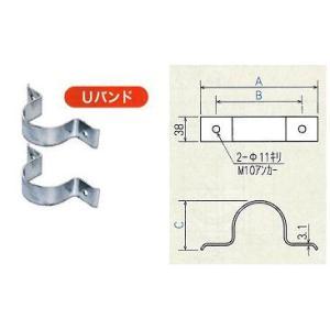 壁面用道路反射鏡(カーブミラー)支柱取付金具 Uバンド(φ76.3mm用) 1セット(2個) ナック・ケイ・エス|anzen-signshop