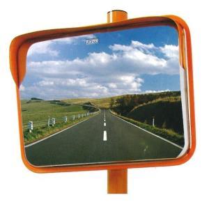 角型カーブミラー ステンレス製 Z 縦450mm×横600mm 道路反射鏡 設置基準合格品 ナック・ケイ・エス(送料無料 一部地域除く)|anzen-signshop