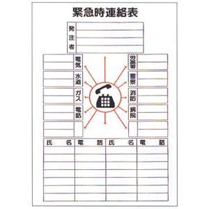 安全標識  「緊急時連絡表」 法定表示板|anzen-signshop