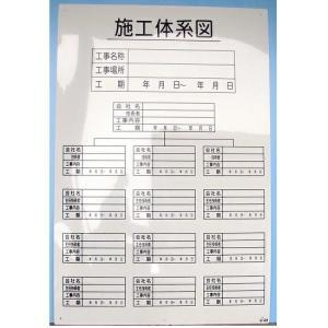 施工体制図 安全標識 施工体系図 タテ|anzen-signshop