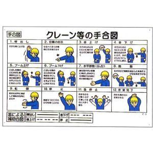 安全マンガ標識 「クレーン等の手合図」|anzen-signshop