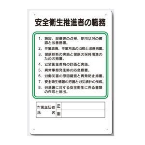 作業主任者の職務板 安全衛生推進者の職務板 94-S|anzen-signshop