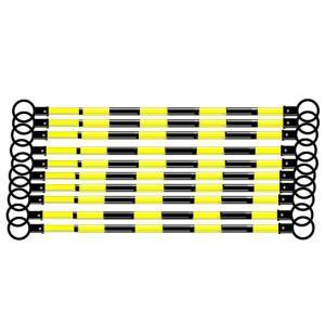 スライドバー 伸縮バー カラーコーン用 黒 黄反射 10本 anzen-signshop