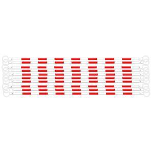 コーンバー カラーコーン用バー 白 赤反射 10本 工事保安用品 anzen-signshop