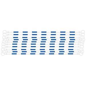 コーンバー カラーコーン用バー 白 青反射 10本 anzen-signshop