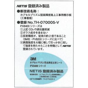 工事用看板 カプセルプリズ高輝度反射 「○○m先 工事中」(鉄枠付き) anzen-signshop 05