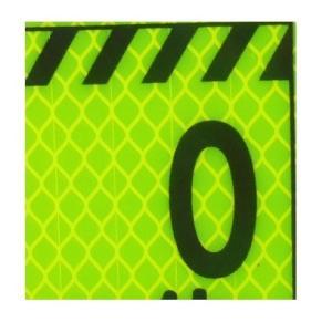 工事用スリムサイズ看板 イエロー蛍光高輝度反射 「◯◯m先工事中」(鉄枠付き) SY-36PC|anzen-signshop|03