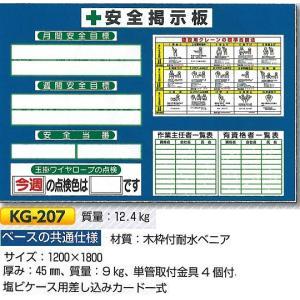 安全掲示板 小型安全掲示板 1200×1800 KG-207 anzen-signshop