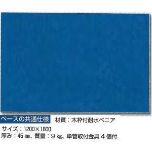 安全掲示板 ベースのみ ブルー地 1200×1800 KG-200 anzen-signshop