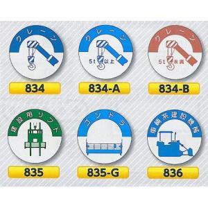 ヘルメット用ステッカー 資格者用 クレーン、建設用リフト、ゴンドラ、車両系建設機械|anzen-signshop