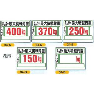 最大積載荷重 足場作業床 450×600|anzen-signshop