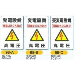 電気関係の安全標識 発電設備 変電設備  450×300|anzen-signshop