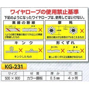 ワイヤーロープの使用禁止基準 KG-231|anzen-signshop