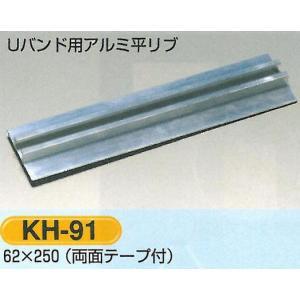 標識板用取付金具 Uバンド用アルミ平リブ 2本セット KH-91|anzen-signshop