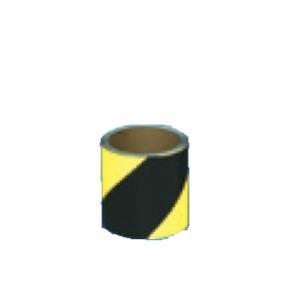 コンクリート用ゼブラ反射テープ 90mm×10m  黄/黒 TP-506|anzen-signshop