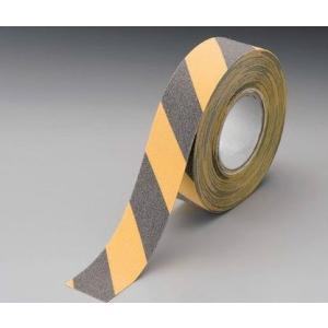 アンチスリップテープ 黄黒ゼブラ 裏粘着 50mm×18m 863-394|anzen-signshop