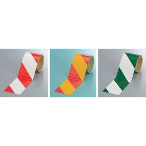 反射テープ ダイヤテープ 反射トラテープ 粘着性 赤・白 黄・赤 緑・白 ゼブラ 90mm幅|anzen-signshop