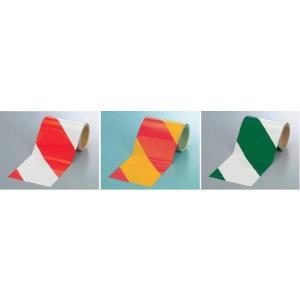 反射テープ ダイヤテープ 反射トラテープ 粘着性 赤・白 黄・赤 緑・白 ゼブラ 150mm幅|anzen-signshop