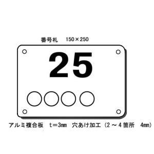 駐車場看板 番号+名前 駐車場札(大) H150*W250mm|anzen-signshop