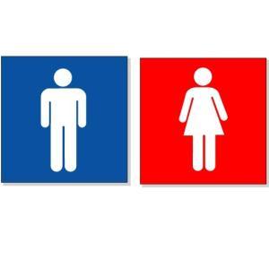 トイレ表示板 ピクトサイン トイレ150P1 男女各1枚 150×150|anzen-signshop