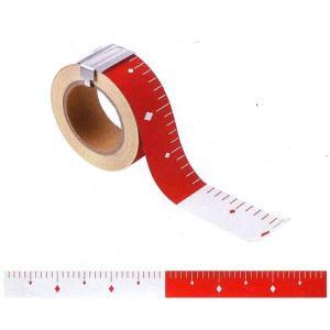 赤白テープ 丁張用ロッド 50mm幅 25m 赤白30cmピッチ エコピタッとロッド HPR530|anzen-signshop