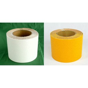 駐車場用路面専用テープ(粘着性) 100mm幅×5m 白・黄 TP-201|anzen-signshop