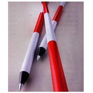 測量用 アルミ伸縮ポール 2m 赤白20cmピッチ 1本 マイポール|anzen-signshop