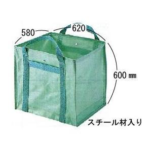 自立式グリーンバック  落ち葉・草・ゴミ回収用 中 190リットル|anzen-signshop