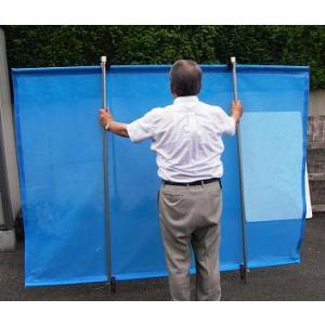除草用飛散防止ネット(大) 手持ち 補助棒付き 危険防止の必需品|anzen-signshop