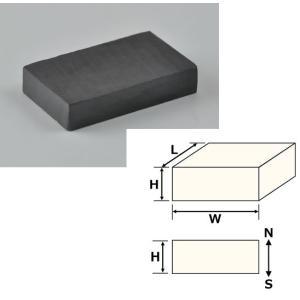フェライト磁石、角型、20x12x4(mm)、4mm方向 訳あり(送料200円 ゆうパケット対応 代引除く)