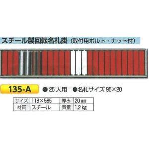 回転名札 入場、入坑者用名札 25人用 135-A|anzen-signshop