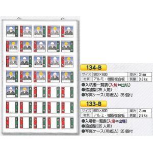 追加型 入坑・入場者一覧表 写真ケース式 壁掛け型 35名 900×600 |anzen-signshop
