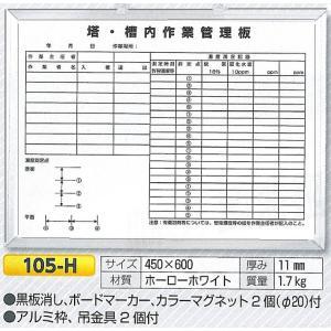 塔槽内作業管理板 450×600 105-H|anzen-signshop