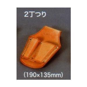 【皮革製ペンチ差し 2丁つり】  anzenkiki
