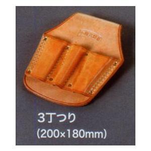 【皮革製ペンチ差し 3丁つり】 anzenkiki