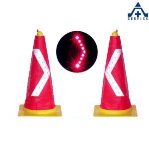 【LEDコーンカバー SVC−R9R/L】赤白反射(赤色LED)|anzenkiki