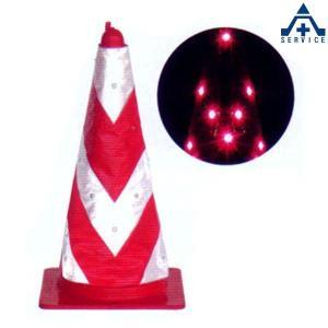 【LEDコーンカバー LCV−18RW】赤白反射(赤色LED) |anzenkiki