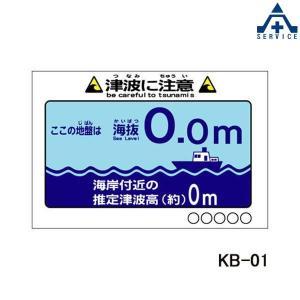 当社オリジナル 海抜看板 KB-01 津波に注意 アルミ複合板 幅910×高さ600mm  平看板 パネル看板 特注看板 anzenkiki