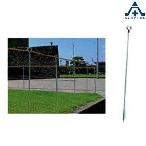 ロープスティック B型 φ13×1000mm  ロープガイド 区画用品 トラロープ杭|anzenkiki