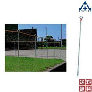 ロープスティックB型 (φ13×1000mm)30本セット  工事現場 区画整理 立入禁止区域 仮囲い 安全用品 ガイドポール ロープピン 鉄ピン ロープガイド|anzenkiki