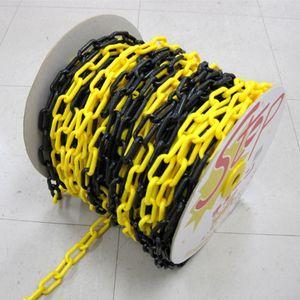 プラスチックチェーン 黄黒 6mm×50m|anzenkiki