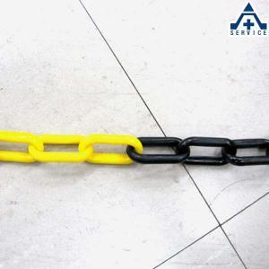 プラスチックチェーン 黄黒トラ (φ6mm×1m単位 切り売り)プラチェーン PE 樹脂 カット|anzenkiki