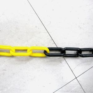 プラスチックチェーン  黄・黒  6mm|anzenkiki