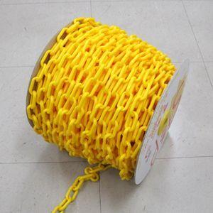 プラスチックチェーン 黄色 6mm×50m|anzenkiki