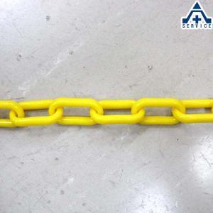 プラスチックチェーン 黄色 (φ6mm×1m単位切り売り)プラチェーン PE 樹脂 イエロー|anzenkiki