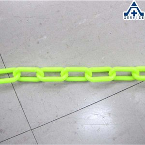 プラスチックチェーン 蛍光イエロー (φ6mm×1m単位 切り売り)プラチェーン PE 樹脂 蛍光黄色 カット|anzenkiki